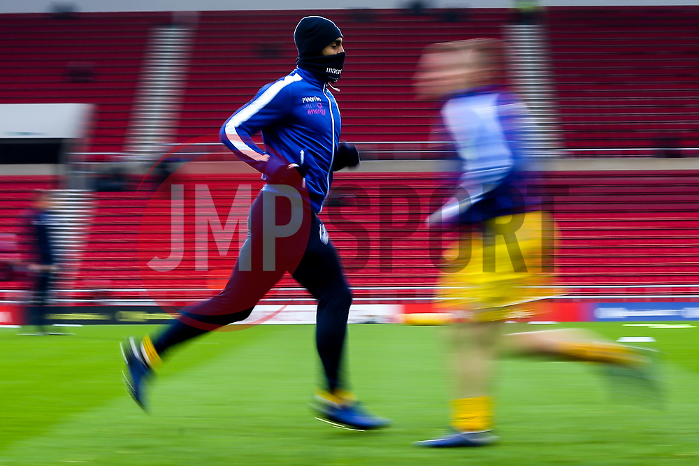 Stefan Payne of Bristol Rovers warms up ahead of his side's Sky Bet League One fixture against Sunderland - Mandatory by-line: Robbie Stephenson/JMP - 15/12/2018 - FOOTBALL - Stadium of Light - Sunderland, England - Sunderland v Bristol Rovers - Sky Bet League One