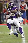 MINNEAPOLIS - NOVEMBER 21:  Running back Onterrio Smith #32 of the Minnesota Vikings runs back a kickoff against the Detroit Lions at the Hubert H. Humphrey Metrodome on November 21, 2004 in Minneapolis, Minnesota. The Vikings defeated the Lions 22-19. ©Paul Anthony Spinelli  *** Local Caption *** Onterrio Smith