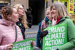 Pictured: Candidate Elaine Gunn asks Alison Johnstone for some election tips<br />