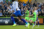 Forest Green Rovers George Williams(11) passes the ball forward during the EFL Sky Bet League 2 second leg Play Off match between Forest Green Rovers and Tranmere Rovers at the New Lawn, Forest Green, United Kingdom on 13 May 2019.