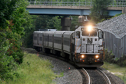 The 4628, 3:38PM, Atlantic City Rail Line train from Atlantic City to 30th Street Station arrives at in Lindenwold, NJ, on August 20, 2018. The scheduled installation of PCT will temporary interrupt ACRL service till the end of December. (Bastiaan Slabbers for WHYY)
