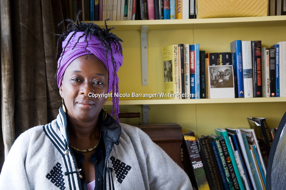 Yaba Badoe - author of True Murder pub.<br /> <br /> Copyright Nicola Barranger/Writer Pictures<br /> contact: +44 (0)20 822 41564<br /> www.writerpictures.com<br /> info@writerpictures.com <br /> <br /> <br /> Can sell to US, UK, AUS NZ