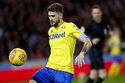 Leeds United midfielder Mateusz Klich (43) in action  during the EFL Sky Bet Championship match between Nottingham Forest and Leeds United at the City Ground, Nottingham, England on 1 January 2019.