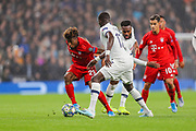Bayern Munich midfielder Kingsley Coman (29) breaks through the Tottenham Hotspur opposition during the Champions League match between Tottenham Hotspur and Bayern Munich at Tottenham Hotspur Stadium, London, United Kingdom on 1 October 2019.