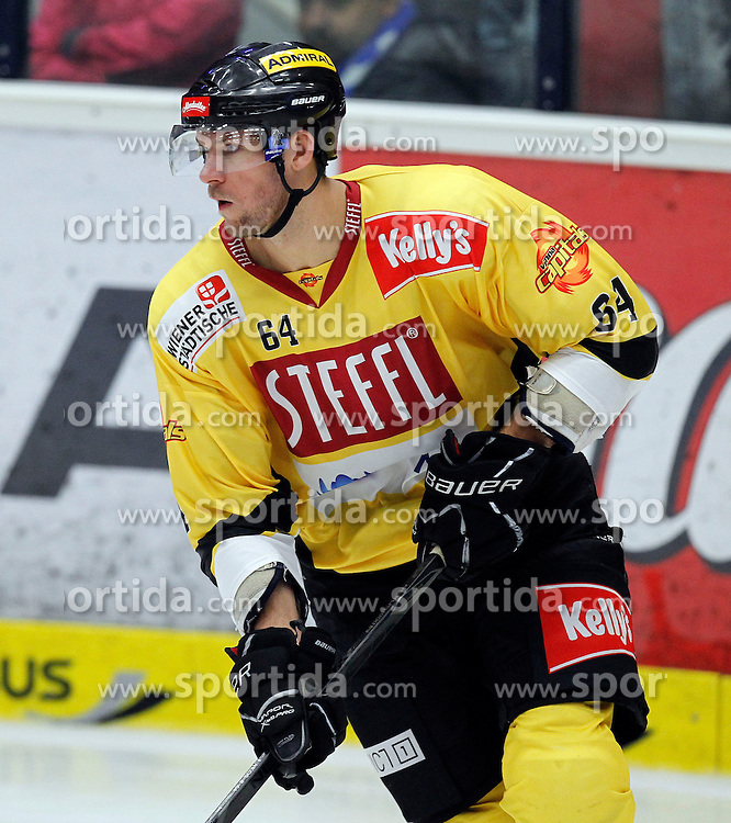 14.09.2012, Stadthalle, Villach, AUT, EBEL, EC VSV vs UPC Vienna Capitals, 03. Runde im Bild Andre Lakos (Capitals,#64) // during the Erste Bank Icehockey League 03rd Round match between EC VSV and UPC Vienna Capitals at the City Hall, Villach, Austria, 2012/09/14, EXPA Pictures © 2012, PhotoCredit: EXPA/ Oskar Hoeher