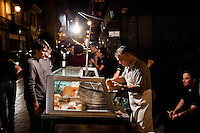 PALERMO, ITALY - 6 OCTOBER 2012: Street food in Palermo, on October 6, 2012.