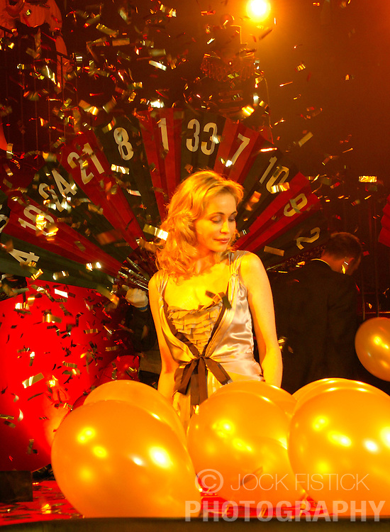 BRUSSELS, BELGIUM - JAN-19-2006 - Motion picture film actress Emmanuelle Beart was the guest of honor at the Grand opening of the Brussels Grand Casino. Beart made a theatrical entrance and dropped the first gold ball on the roulette table to open the casino. (PHOTO © JOCK FISTICK)