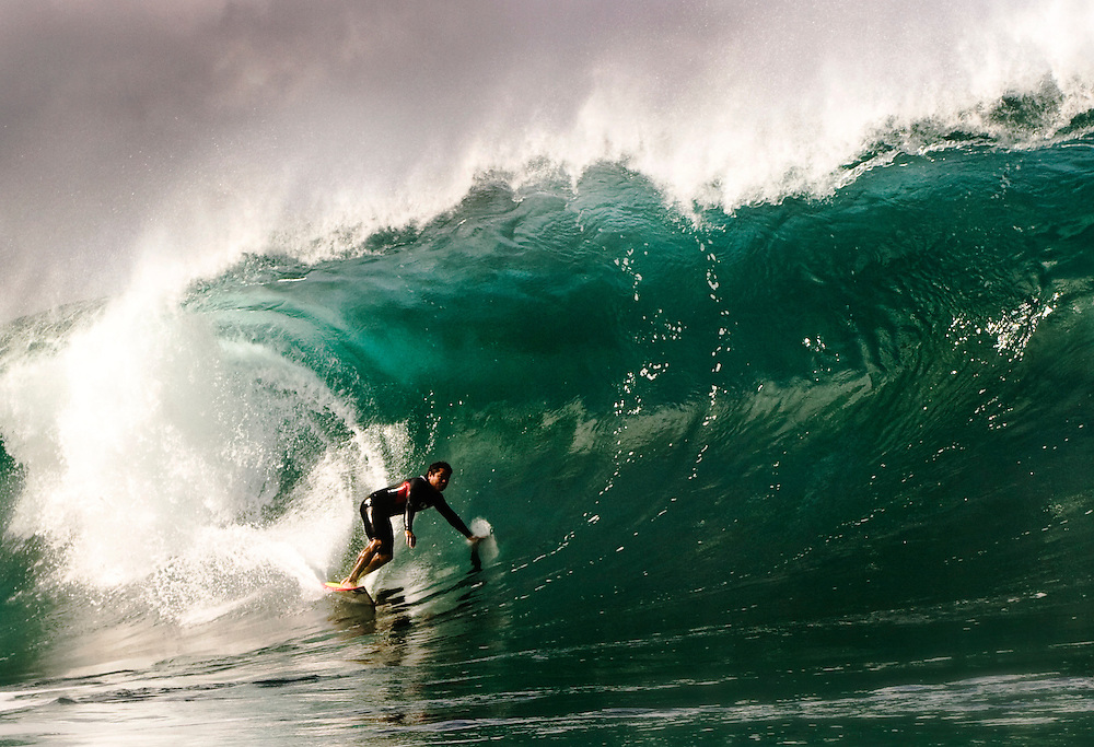 surf pipe line water shot north shore hawaii