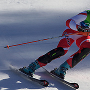 Winter Olympics, Vancouver, 2010.Andrea Dettling, Switzerland, in action in the Alpine Skiing Ladies Super Combined competition at Whistler Creekside, Whistler, during the Vancouver Winter Olympics. 18th February 2010. Photo Tim Clayton