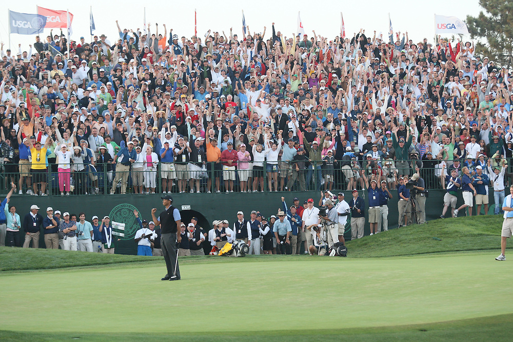 Tiger Woods during the third round of the 2008 United States Open Championship at Torrey Pines Golf Course in La Jolla, California on Saturday, June 14, 2008. .