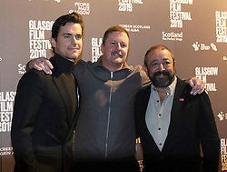 Glasgow Film Festival 2019<br /> <br /> Scottish Premier of Papi Chulo<br /> <br /> <br /> Pictured: Matt Bomer, John butler, Alejandro Patino<br /> <br /> (c) Aimee Todd | Edinburgh Elite media
