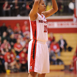 Feb 24, 2009; Piscataway, NJ, USA; Rutgers guard Nikki Speed (11) looks for an open pass during the first half of Rutgers' 71-53 victory over Cincinnati at the Louis Brown Athletic Center.