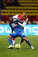 FABINHO / Nabil FEKIR - 01.02.2015 - Monaco / Lyon - 23eme journee de Ligue 1 -<br />Photo : Serge Haouzi / Icon Sport