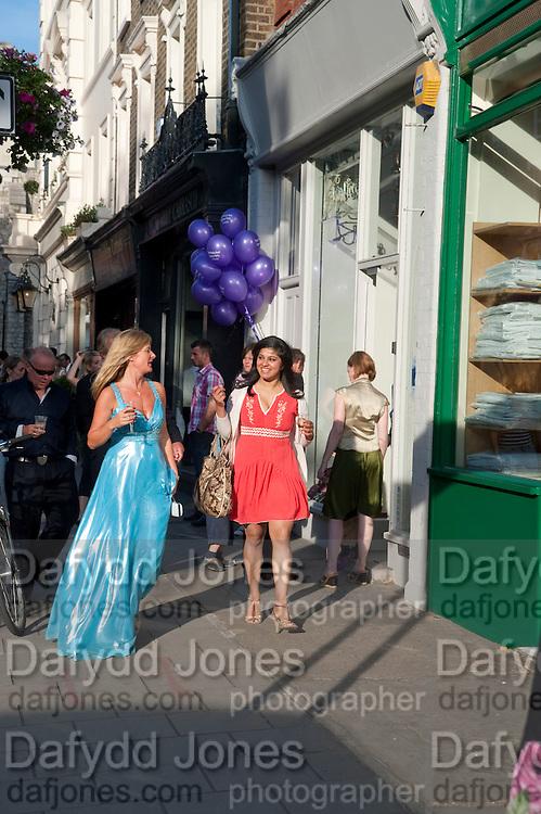 NICOLE GRANVILLE-HAMSHAR; ANGENA CHOPRA, Pimlico Road party. 22 June 2010. -DO NOT ARCHIVE-© Copyright Photograph by Dafydd Jones. 248 Clapham Rd. London SW9 0PZ. Tel 0207 820 0771. www.dafjones.com.