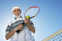 Smiling Man on the Tennis Court