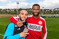 MARBELLA - 07-01-2017, Trainingskamp, AZ - FC Augsburg, 1-1, AZ speler Iliass Bel Hassani, David Mendes Da Silva.