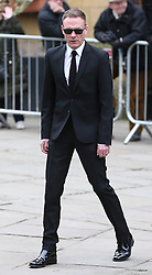 © Licensed to London News Pictures . 18/03/2016 . Manchester , UK . Antony Cotton arrives at the service. Television stars and members of the public attend the funeral of Coronation Street creator Tony Warren at Manchester Cathedral . Photo credit : Joel Goodman/LNP