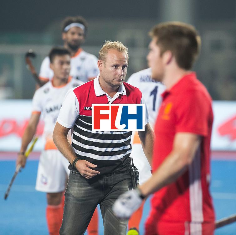 BHUBANESWAR - The Odisha Men's Hockey World League Final . Match ID 06 . India v England. coach Sjoerd Marijne (Ind)    WORLDSPORTPICS COPYRIGHT  KOEN SUYK