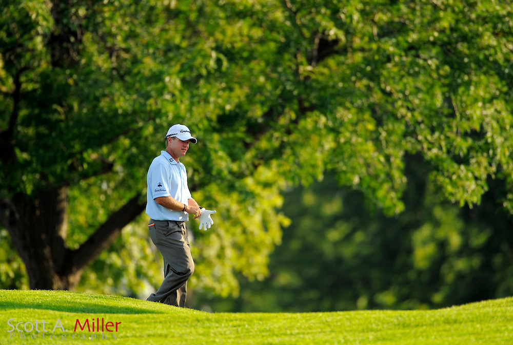 Aug 13, 2009; Chaska, MN, USA; Scott Verplank during the first round of the 2009 PGA Championship at Hazeltine National Golf Club.  ©2009 Scott A. Miller