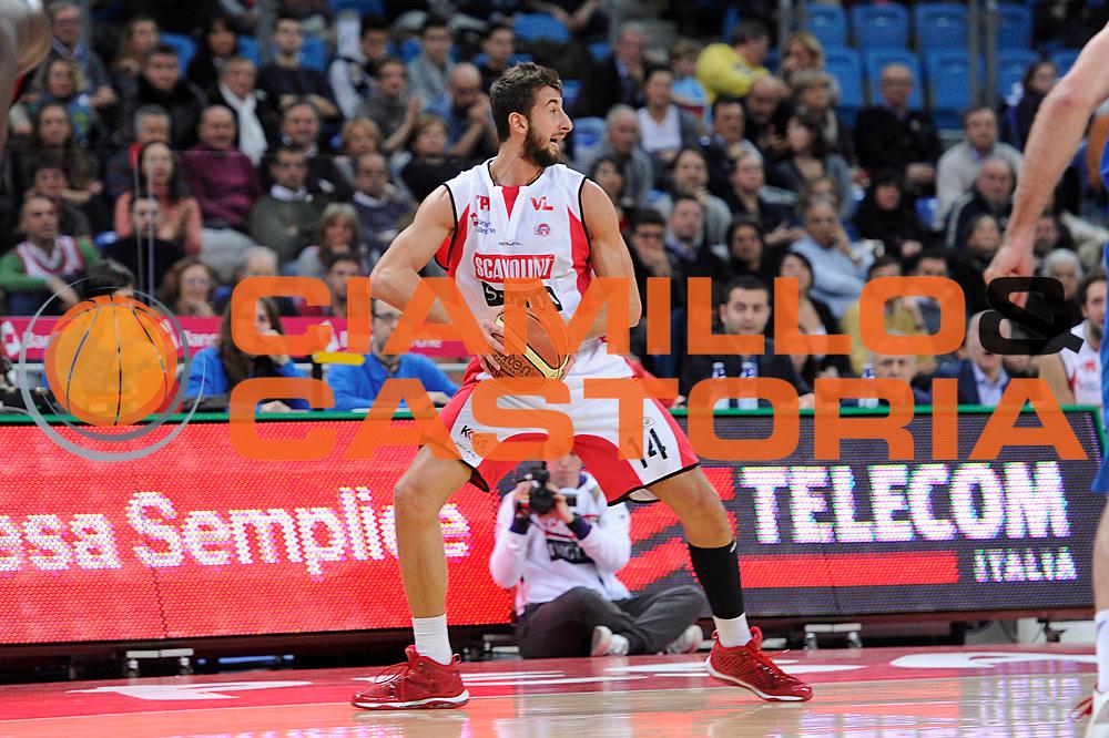 DESCRIZIONE : Pesaro Lega A 2011-12 Scavolini Siviglia Pesaro Novipiu Casale Monferrato<br /> GIOCATORE : Simone Flamini<br /> CATEGORIA : palleggio<br /> SQUADRA : Scavolini Siviglia Pesaro<br /> EVENTO : Campionato Lega A 2011-2012<br /> GARA : Scavolini Siviglia Pesaro Novipiu Casale Monferrato<br /> DATA : 15/01/2012<br /> SPORT : Pallacanestro<br /> AUTORE : Agenzia Ciamillo-Castoria/C.De Massis<br /> Galleria : Lega Basket A 2011-2012<br /> Fotonotizia : Pesaro Lega A 2011-12 Scavolini Siviglia Pesaro Novipiu Casale Monferrato<br /> Predefinita :