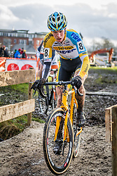Niels WUBBEN (NED) of Telenet Fidea riding to finish 11th at International Cyclo-cross Surhuisterveen: Centrumcross (UCI/C2) - Surhuisterveen, The Netherlands - 2nd January 2014 - Photo by Pim Nijland / Peloton Photos