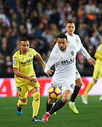 January 26, 2019 - Valencia, Valencia, Spain - Francis Coquelin of Valencia CF and Santiago Cazorla of Villarreal CF during the La Liga Santander match between Valencia and Villarreal at Mestalla Stadium on Jenuary 26, 2019 in Valencia, Spain. (Credit Image: © AFP7 via ZUMA Wire)