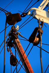 UK CORNWALL NEWLYN 9JUN08 - View of masts and fishing gear at Newlyn harbour in Cornwall, western England.<br /><br /> <br /> jre/Photo by Jiri Rezac / WWF UK<br /><br /> <br /> © Jiri Rezac 2008