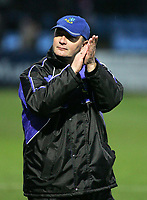 Photo: Paul Thomas. Macclesfield Town v Yeovil Town, Macclesfield. Coca Cola League Two. 05/02/2005. Macclesfield Town manager Brian Horton thanks the crowd after the match.