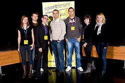 Ekipa Sportforuma na okrogli mizi o krizi slovenskega rokometa danes, 26. oktober 2010, kongresna dvorana Mercurius, BTC City, Ljubljana, Slovenija. (Photo by Vid Ponikvar / Sportida)