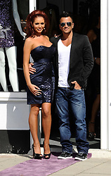 """Former TOWIE star Amy Childs and Peter Andre attend The Launch Of Her New Boutique Opening Of """"Amy Childs Boutique.""""Brentwood,Essex.London, Wednesday September 5, 2012"""