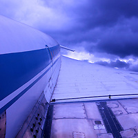 Storm clouds roll in on the Tupolev. Much like civil Supersonic travel as a whole, neither the Concorde or Tupolev made it as a viable program past the 1990s.