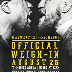 25,08,2017 Mayweather vs McGregor weigh-in