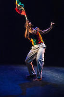 Paradigms' The Dancehall Spirit, part of Dancehall Takeover at the Lilian Baylis Theatre, London. 13th February 2014. <br /> <br /> Sadler's Wells blurb follows: After two successful seasons Wild Card returns to Sadler&rsquo;s Wells this Spring. This Sadler&rsquo;s Wells initiative opens up the theatre&rsquo;s Lilian Baylis Studio to the next generation of choreographers and dance makers, who are invited to curate a mixed bill evening of cutting edge work.<br /> <br /> The first of this Spring/Summer 2014 season&rsquo;s two Wild Card evenings is curated by dancer, choreographer and Association of Dance of the African Diaspora Trailblazer 2013-14, Cindy Claes who presents an evening entitled Dancehall Takeover: an immersion into the world of Jamaican dancehall on Thursday 13 &amp; Friday 14 February.<br /> <br /> With this evening Claes brings together comedy, street dance, and urban dance theatre to look at the roots and influence of this dynamic street dance culture from Jamaica, unknown to many and yet growing in popularity. Central to the evening is the coming together of three generations of dancehall performers and artists, including work performed and choreographed by Paradigmz; Jamaican crew, Shady Squad, who perform for the first time in the UK; the Dancehall Theatre Exchange Collective (DTX Collective) who perform a new piece choreographed by Claes and Shady Squad; and work by Claes herself. The programme also includes an installation piece created by H Patten.