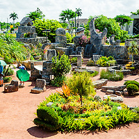 MIAMI, FLORIDA -- July 12, 2015 -- Visitors take in the unusual formations and structures made by Edward Leedskalnin at the Coral Castle Museum in Miami, Florida.  (PHOTO / CHIP LITHERLAND)