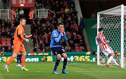 Dele Alli of Tottenham Hotspur reacts after missing an open net - Mandatory by-line: Matt McNulty/JMP - 18/04/2016 - FOOTBALL - Britannia Stadium - Stoke, England - Stoke City v Tottenham Hotspur - Barclays Premier League