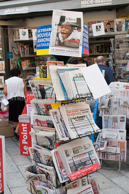 News stand in the old town in Nice the South of France