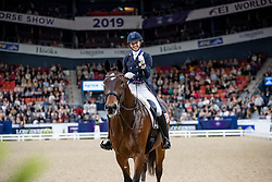 GRAVES Laura (USA), Verdades <br /> Göteborg - Gothenburg Horse Show 2019 <br /> FEI Dressage World Cup™ Final II<br /> Grand Prix Freestyle/Kür<br /> Longines FEI Jumping World Cup™ Final and FEI Dressage World Cup™ Final<br /> 06. April 2019<br /> © www.sportfotos-lafrentz.de/Stefan Lafrentz