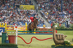 Verlooy Jos, (BEL), Domino<br /> Team completion and 2nd individual qualifier<br /> FEI European Championships - Aachen 2015<br /> © Hippo Foto - Dirk Caremans<br /> 20/08/15