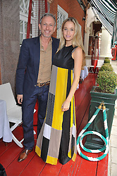 PATRICK COX and FLORENCE BRUDENELL-BRUCE at a lunch to celebrate the the Lulu & Co Autumn/Winter 2011 collection held at Harry's Bar, 26 South Audley Street, London W1 on 21st June 2011.