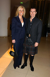 PAUL & VICTORIA STEWART at a Burns Night dinner in aid of CLIC Sargent and Children's Hospice Association Scotland held at St.Martin's Lane Hotel, St.Martin's Lane, London on 25th January 2007.<br />