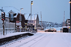 © under license to London News Pictures. 02/12/2010. West Worthing station remains closed this morning (02/11/2010) following further heavy snowfall. Southern Railways have cancelled all trains until at least mid-morning. . Picture credit should read: Julie Edwards/London News Pictures