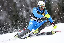 THALER Patrick of Italy during the 1st Run of Men's Slalom - Pokal Vitranc 2013 of FIS Alpine Ski World Cup 2012/2013, on March 10, 2013 in Vitranc, Kranjska Gora, Slovenia.  (Photo By Vid Ponikvar / Sportida.com)