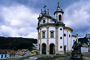 Ouro Preto, Pilar church is one of the finest examples of early Minas Gerais Baroque architecture,