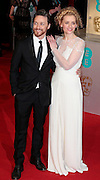 Feb 8, 2015 - EE British Academy Film Awards 2015 - Red Carpet Arrivals at Royal Opera House<br /> <br /> Pictured: James McAvoy and Anne Marie Duff <br /> ©Exclusivepix Media