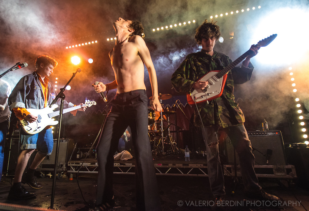 Fat White Family closing Field Day Festival in London day one on 7 June 2014
