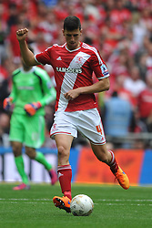 Daniel Ayala Middlebrough, Middlesbrough v Norwich, Sky Bet Championship, Play Off Final, Wembley Stadium, Monday  25th May 2015