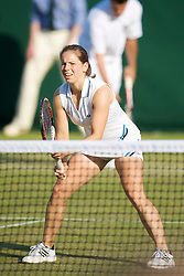 LONDON, ENGLAND - Thursday, June 25, 2009: Katie O'Brien (GBR) during the Mixed Doubles 1st Round match on day four of the Wimbledon Lawn Tennis Championships at the All England Lawn Tennis and Croquet Club. (Pic by David Rawcliffe/Propaganda)