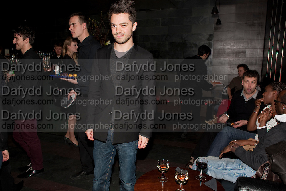 Dominic Cooper, Clybourne Park Press night. Opened at Wyndham's Theatre. Party afterwards at Mint Leaf, Haymarket, London. 8 February 2011.  -DO NOT ARCHIVE-© Copyright Photograph by Dafydd Jones. 248 Clapham Rd. London SW9 0PZ. Tel 0207 820 0771. www.dafjones.com.