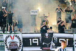 Fans of ND Mura during football match between ND Mura and ND Tabor Sezana in Round #28 of 2.SNL 2017/18 on May 13, 2018 in Mestni stadion Fazanerija , Murska Sobota , Slovenia. Photo by Mario Horvat / Sportida
