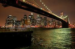 USA NEW YORK 5JUN10 - Manhattan skyline at night, seen from Brookly, New York...jre/Photo by Jiri Rezac..© Jiri Rezac 2010